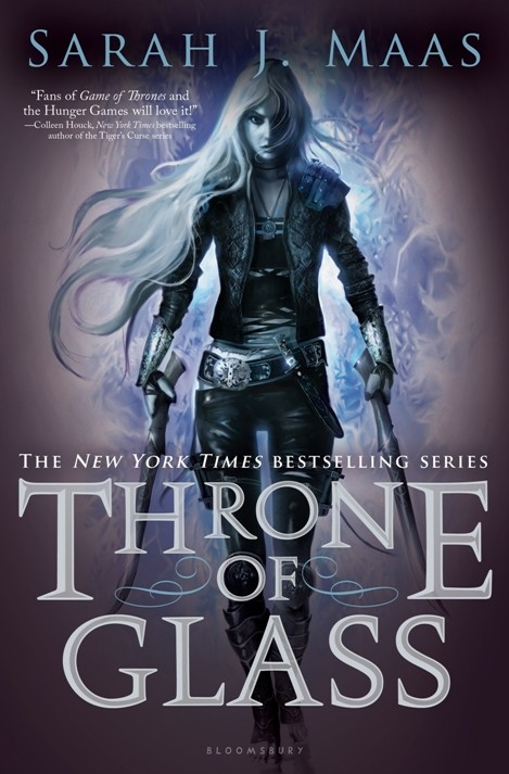 """""""Throne of Glass"""" by Sarah J. Maas Book Cover"""